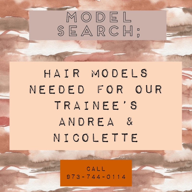 Model Search: Hair Models Needed for our trainees Andrea & Nicolette